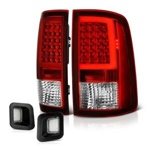 2009 2018 Dodge Ram Neon Tube Led Tail Lamp red License Plate Light clear