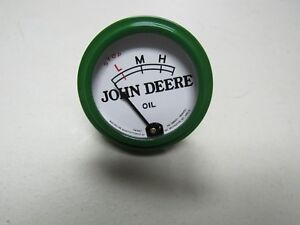 John Deere Unstyled B Tractor White Faced Oil Pressure Gauge No Studs 9298