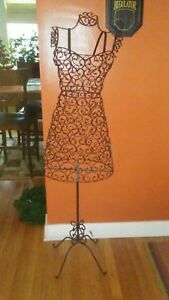 Vintage Boutique Dress Form Wire Mannequin With Stand Display Clothes