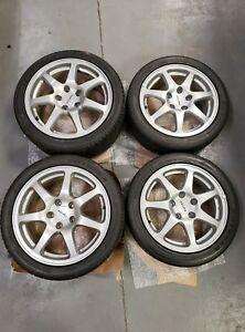 Acura Nsx Oem Original Alloy Wheels And Tires 16x7 55 17x8 60 Very Good Cond