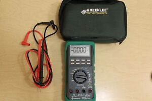 Greenlee Dm 820 True Rms Multimeter W Leads And Case