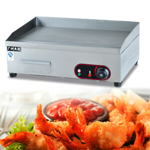 Electric Griddle Flat Top Countertop Plate Commercial Restaurant Grill Bbq 3000w