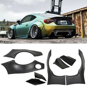 Rocket Bunny Style Wide Fender Flare Cover Guards Fit 13 17 Scion Frs Subaru Brz