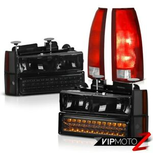 88 93 Silverado 3500 Bloody Red Taillamps Headlamps Bumper Corner Led Smd L r