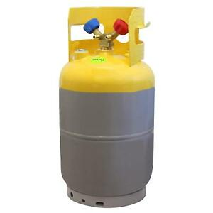 Gray Yellow Reusable 30 Lbs Refrigerant Recovery Tank Without Float Switctch