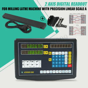 2 Axis Digital Readout Linear 20um Scale Dro Display Cnc Milling Lathe Encoder