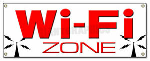 72 Wi fi Zone Banner Sign Wifi Internet Cafe Hotspot Free Coffee Shop Wifi Hot