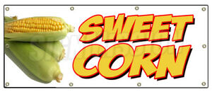 36 x96 Sweet Corn Banner Sign Farmers Market Stand Signs Cob Produce