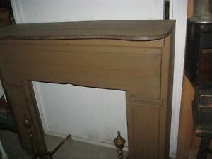Custom Wood Wooden Fireplace Mantel Mantle Vintage Style Deep Freestanding
