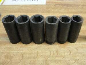 15 Piece S k Tools Usa 1 2 Drive 6 Point Deep Well Impact Socket Set Metric
