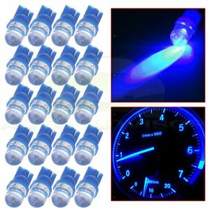 20x Ultra Blue T10 158 194 W5w Led Speedometer Instrument Dash Lights Lamp 12v