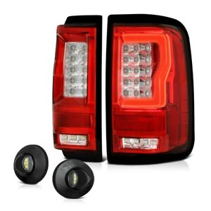 Red Clear Lens Neon Tube Led Tail Brake Lamp License Plate Light 04 08 Ford F150