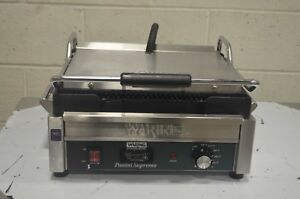 Waring Wpg250tb Panini Supremo Grooved Top Bottom With Timer 208v 2808w