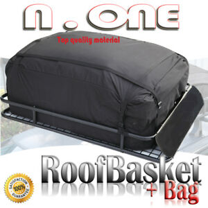 Rooftop Rack Luggage Basket Cargo Carrier Storage W bag Wind Fairing For Buick