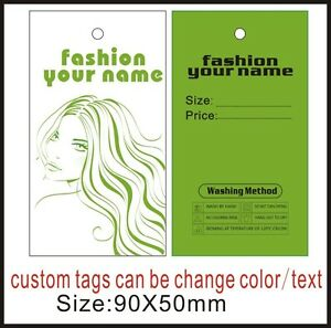 500pcs Custom Clothing Label tags personalized Labels Can Be Change Text Or Logo