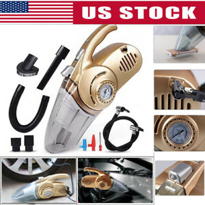 4 In 1 Led High Power Wet And Dry Car Vacuum Cleaner Inflatable Air Compressor
