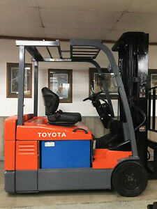 Toyota 7fbeu20 4000lb 3 Wheel Electric Forklift Lift Truck