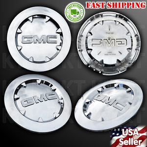 Brand New 4pcs 2007 2012 Gmc Sierra 1500 Yukon Xl Denali Chrome Center Cap 20
