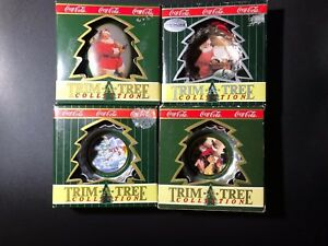 Lot of Coca Cola Trim A Tree Bottling Works Christmas Ornaments