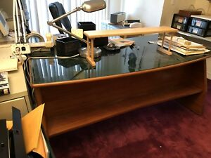 paolo Buffa Design Office Desk With Glass Top