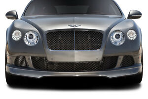 2012 2015 Fits Bentley Continental Gt Coupe Af 1 Front Spoiler 2 Piece gfk