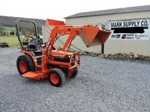 2004 Kubota B7500 Sub Compact Tractor Loader Belly Mower 4x4 Diesel 3 Point Pto