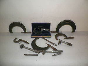 Lot Of Micrometers Mitutoyo Starrett Slocomb And More Industrial Machine Age