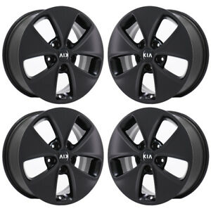 16 Kia Soul Black Wheels Rims Factory Oem 2015 2016 2017 2018 Set 4 74692