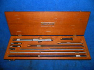 Starrett No 124 c Inside Micrometer Set 8 To 32 With Wooden Box