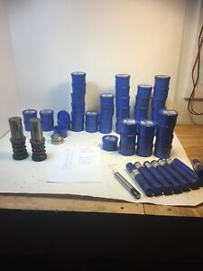 Lot Of Wilson Turret Punch Press Tools And Parts Dies Punches Springs