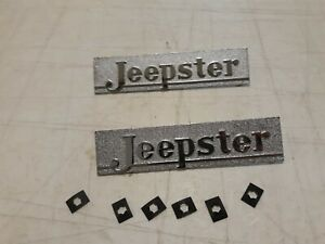 Jeepster Hood Emblems Fits Willys Jeepster 48 49