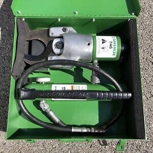 Greenlee 751 m2 Hydraulic Cable Cutter 746 With 767 Pump Case