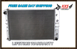 Kks 3 Row Aluminum Radiator 1973 1986 Chevy Truck Pickup C10 C20 Polished