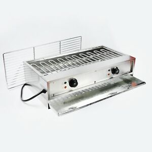 Vic 220v Electric Barbecue Oven Tabletop Charbroiler Grill Machine Smokeless Bbq