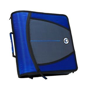 Case it Mighty Zip Tab O ring Binder Blue 3 Inches New