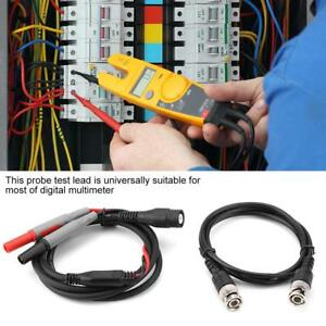 P1600f Replaceable Multimeter Probe Test Hook Lead W crocodile Clips Banana Plug