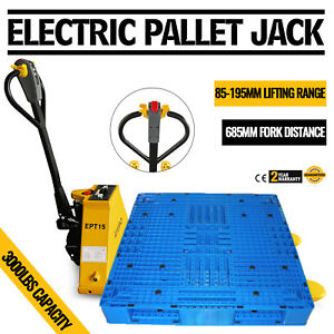 1 5t 3300lbs Electric Pallet Jack Yellow Pallet Truck Electromagnetic Great