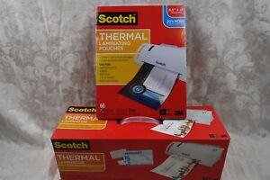 New Scotch Thermal Laminator 3m Model Tl 902 60 Pouches 8 9 In X 11 4 In 3mil
