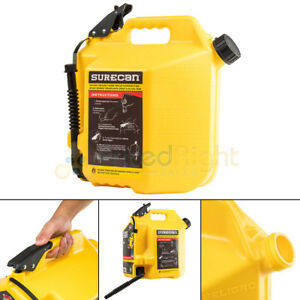 Surecan 5 Gallon 19 Liter Self Venting Diesel Fuel Can W Rotating Spout Yellow