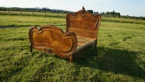 Antique French Full Bed Parisian Bed French Rococo Bed Full Queen Bed