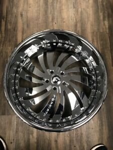 22 Forgiato Canalle Chrome 22x9 22x10 5 5x120 2 Piece Rim