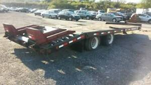 2007 Towmaster T 40lp 20 Ft ton Low Deck over Trailer W Ramps Heavy Duty Hauler