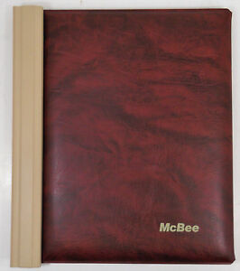Lot Of 2 Mcbee Folding Bookkeeper Check Pegboard Binder W locking Bars
