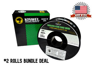 Usa Made 2rolls K ngs E71t gs 030 In dia 10lb Gasless flux Core Wire Welding