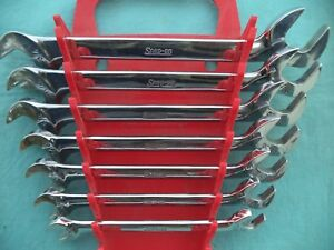 Snap On Sae 4 Way Angle Wrench Set Vs807 3 8 3 4 7 Pc W Rack Excellent