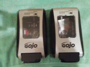 Gojo Commercial Soap Dispensers lot Of 2 Approx 10 5 X 6 X 4 5 Priority Ship