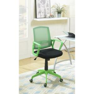 Office Chair With Adjustable Height Green Black