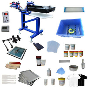 3 Color 1 Station 1 Dryer Screen Printing Kit Silk Screen Press Machine