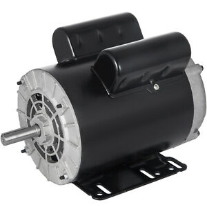 3 Hp Electric Motor 1 Phase 56 Frame 3450 Rpm 115 230 Volts New