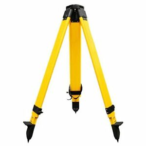 Wooden Tripod 6 7kg With Screw Clamp For Theodolite Total Station